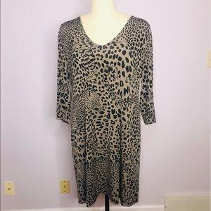 Banana Republic Reversible Leopard Dress